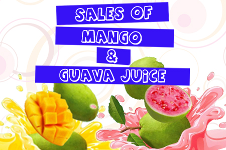Sales of Mango and Guava Juice in FSTM