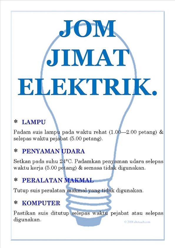 LET'S SAVE ELECTRICITY